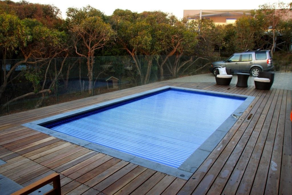 Heated pool with views of the bush