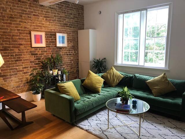 Big room in beautiful, large refurbished flat.