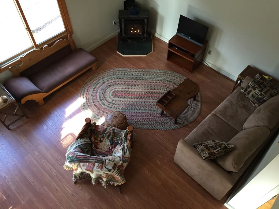 Birdseye view of living room