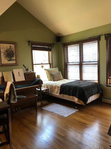Master suite on its own floor near town and trails