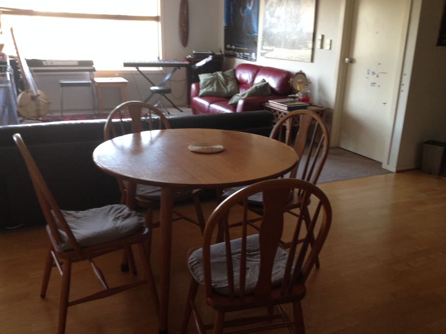 kitchen table to lounge room