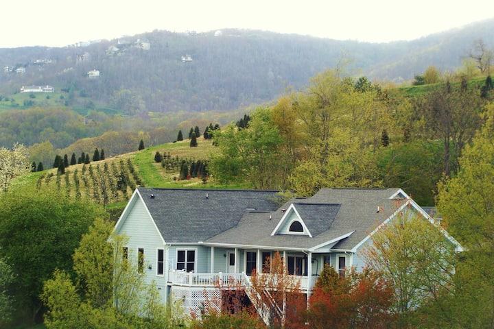 The Vineyard walking distance to Banner Elk Winery