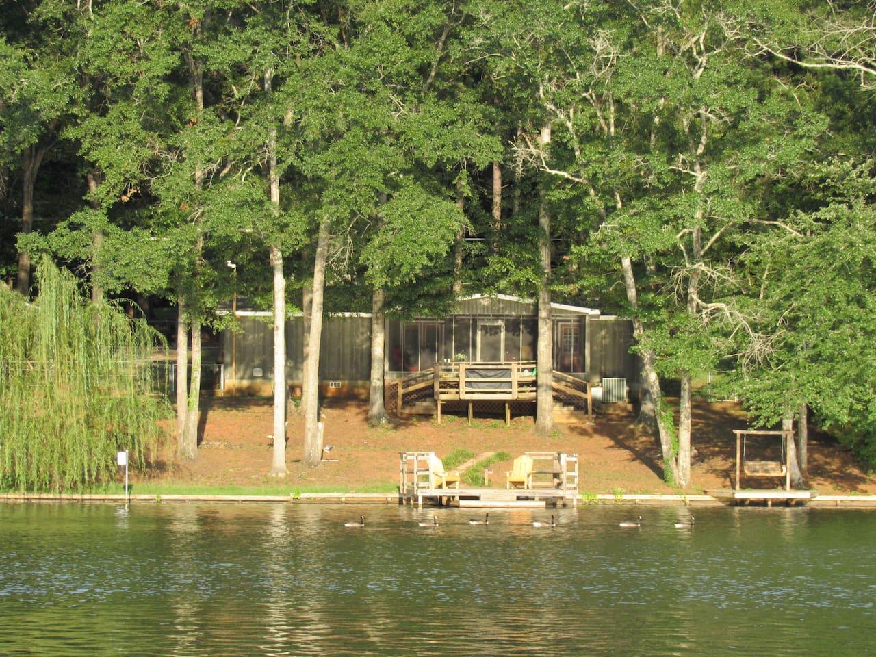Back of lake house