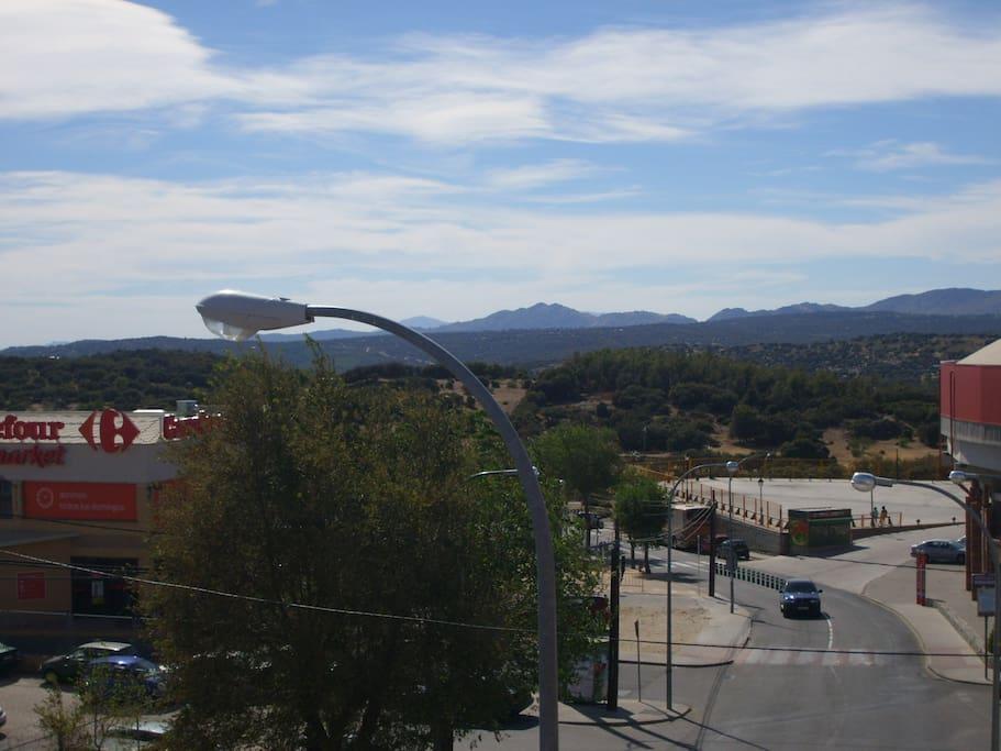 Vistas a la Sierra Norte de Madrid
