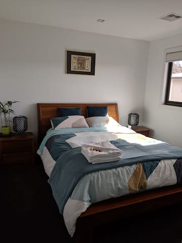 Your well-lit, spacious and private bedroom