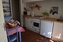 You'll find the kitchen is very well equipped so that you can enjoy making meals at home.