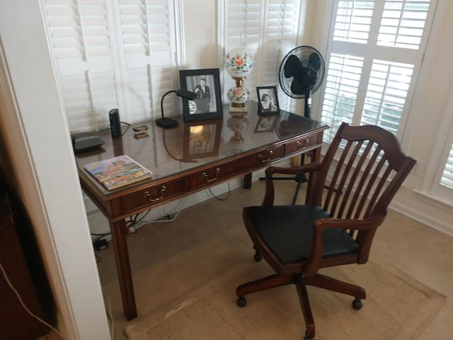 Office in the sun room