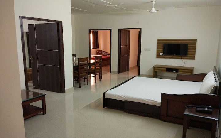 Suite Room with King Bed for 2 Adults in Vrindavan