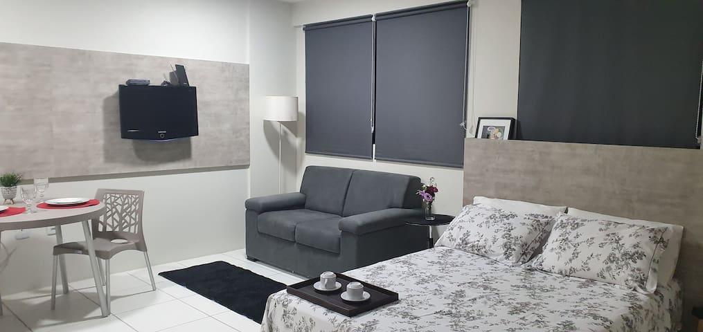 Stúdio Flat Graças - Imóvel com mobília completa!