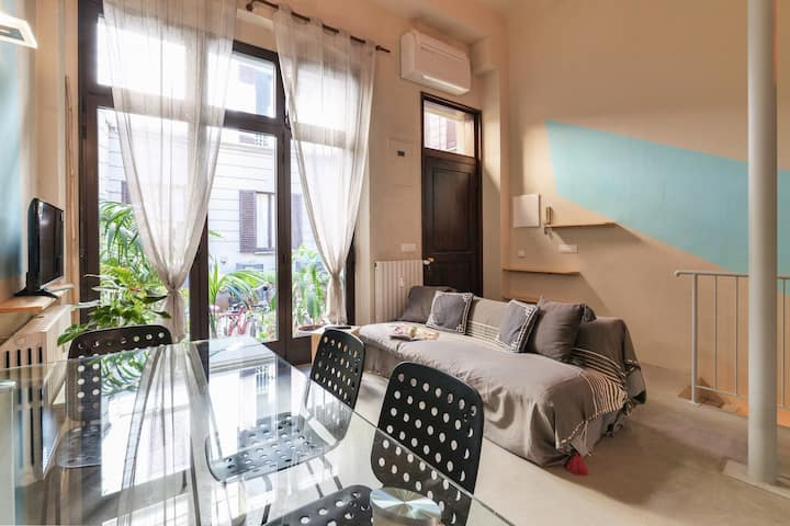 Saffi 12 - Two-room apartment on two levels in one of the most exclusive streets in the historic center of Milan - Contempora