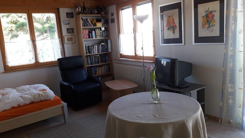 Lichtdurchflutetes Zimmer, super gemütlicher Relax-Sessel mit Liegefunktion zum Entspannen und Genießen