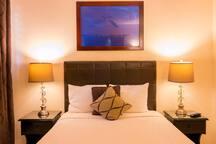 Comfy double bed bedroom