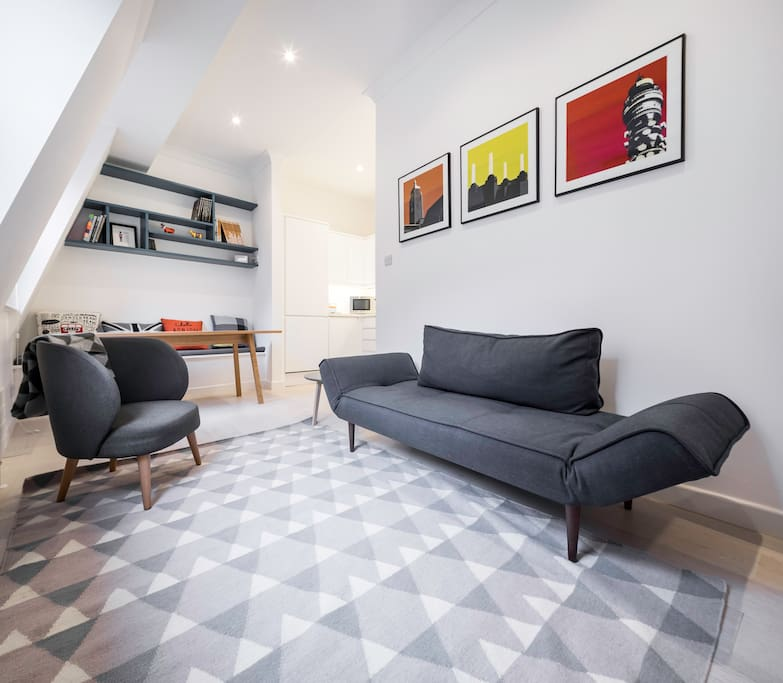 Beautiful 1 bed near barbican centre st paul 39 s for Minimalistische wohnungen