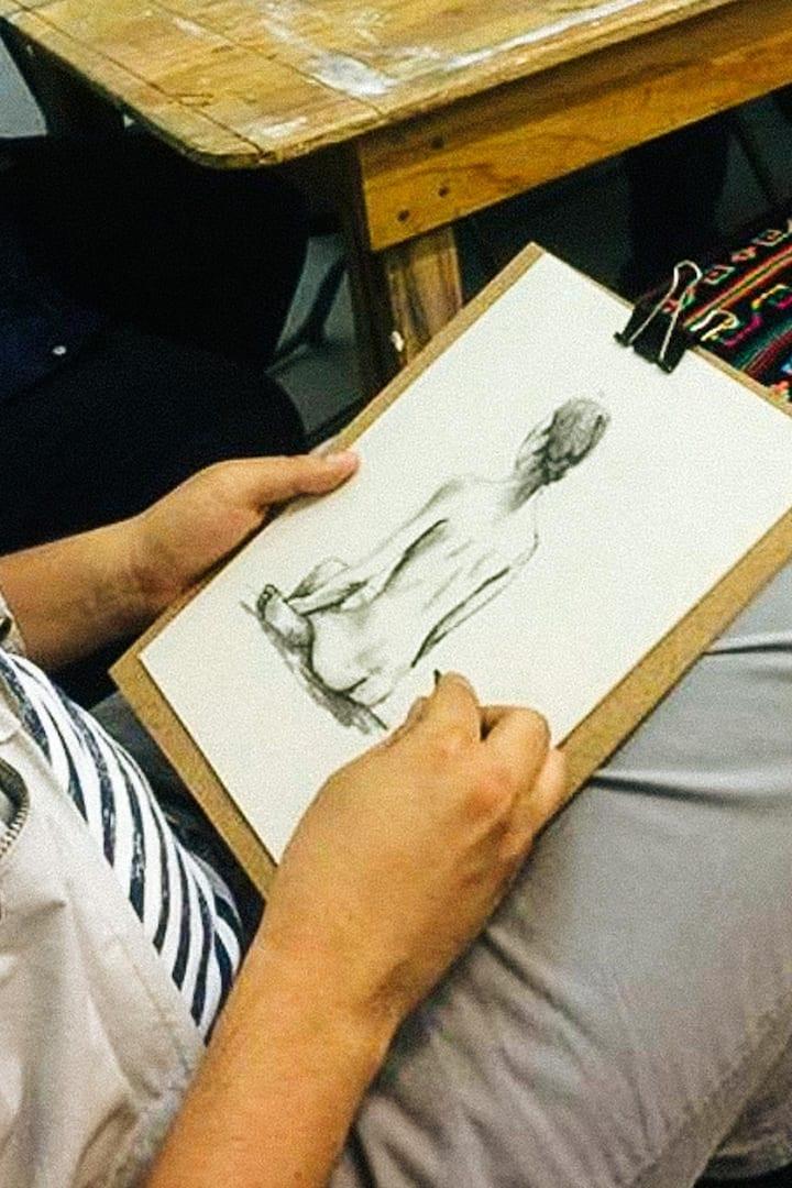Sketch en carboncillo