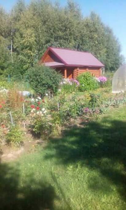 Russian banya and kitchen garden