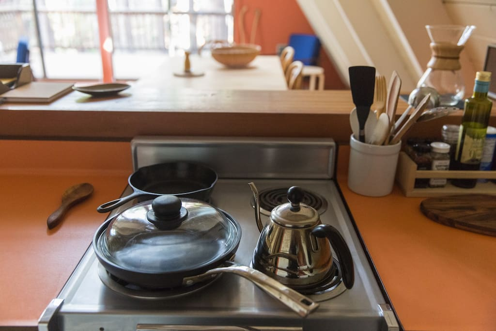 pots and pans. we also have essential cooking supplies and spices.