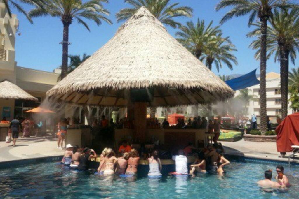 Swim up pool bar!