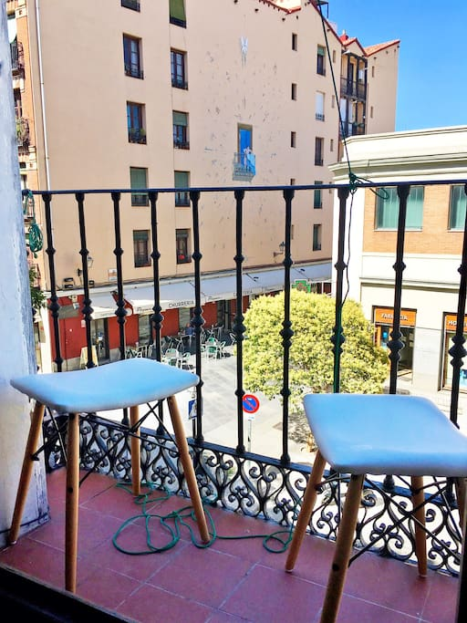 Grab a coffee or a beer and enjoy the great views from the 2 balconies
