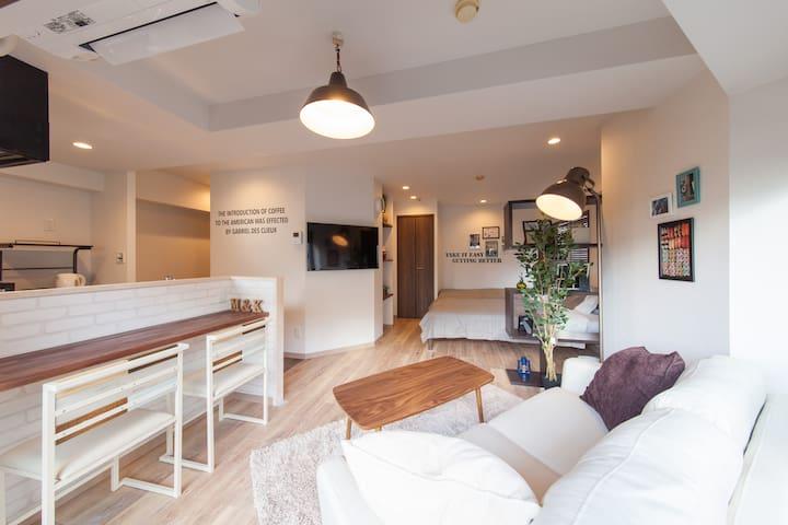 Sale!!1min to Shinjuku# Gorgeous mansion for 4ppl - Shinjuku-ku - Huoneisto