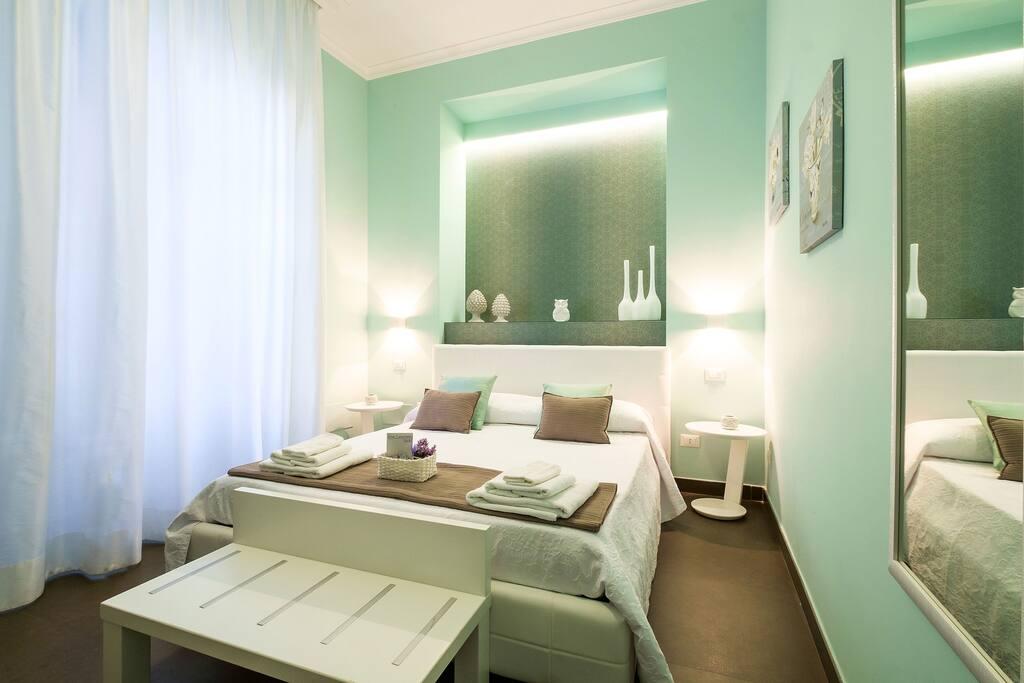 Suite Blu, camera doppia con bagno esterno