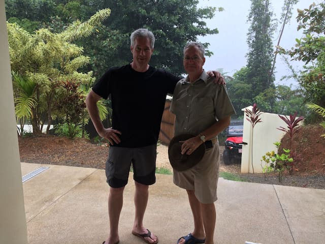 Owner Mike and Balcón Ballena Site Manager Loren.  Ready to make your Costa Rica adventure memorable!  Thanks for staying at Balcón Ballena.  Please let Mike & Eva know if you have any questions!  Pura Vida!