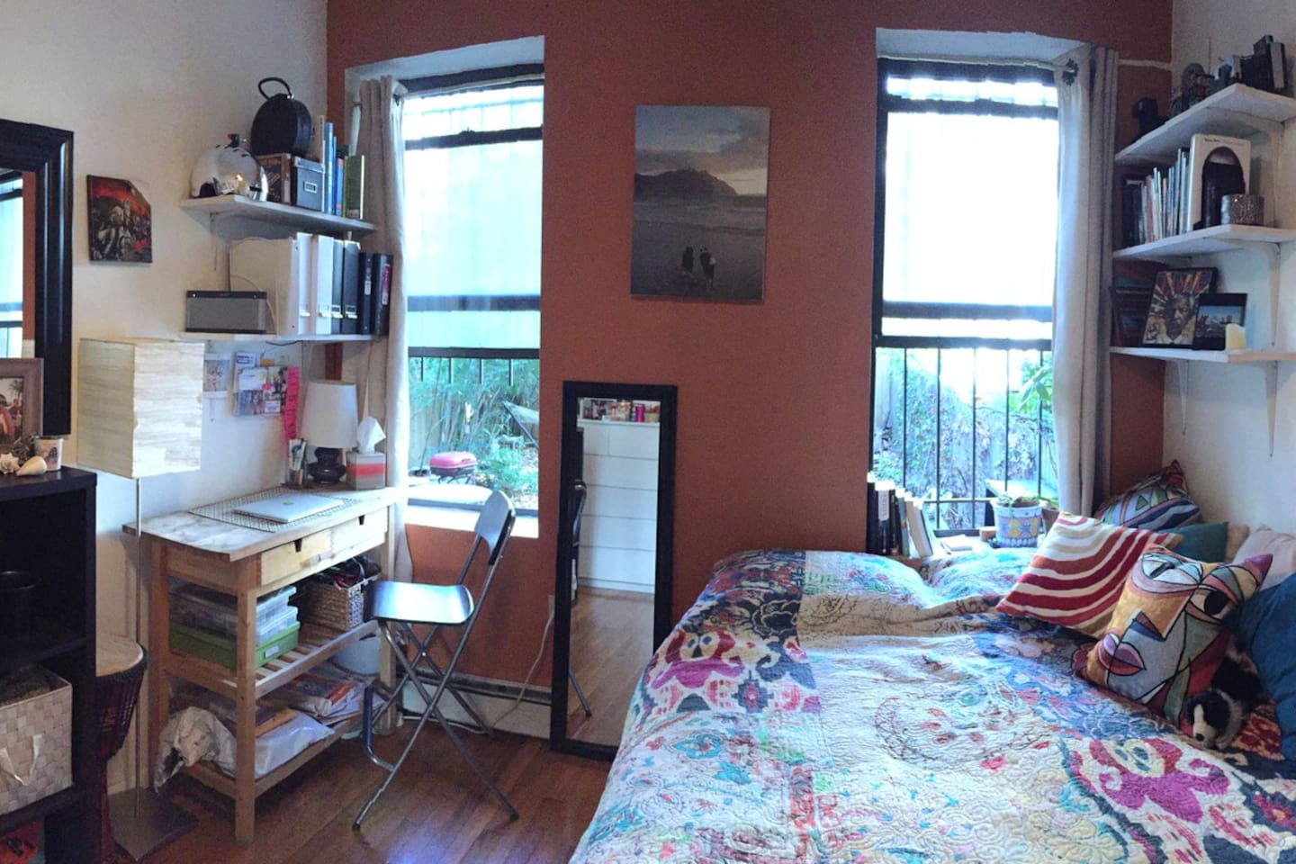 Panorama of bedroom (note: there won't be furniture)