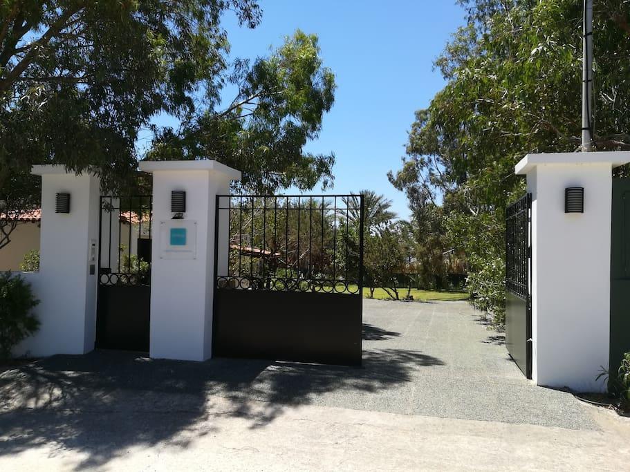 Entrance of the villa.