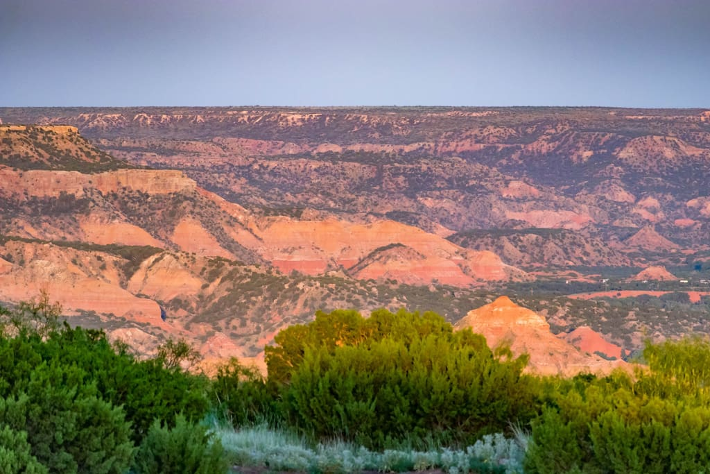 Rustic Retreat with panoramic view of Palo Duro Canyon.