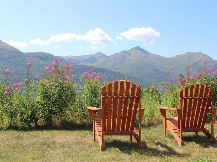 Relax and enjoy the Eagle River Valley view