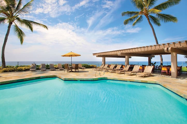 Kona-spacious resort condo-Golf,Tennis,Pools,beach - Kailua-Kona - Condominio