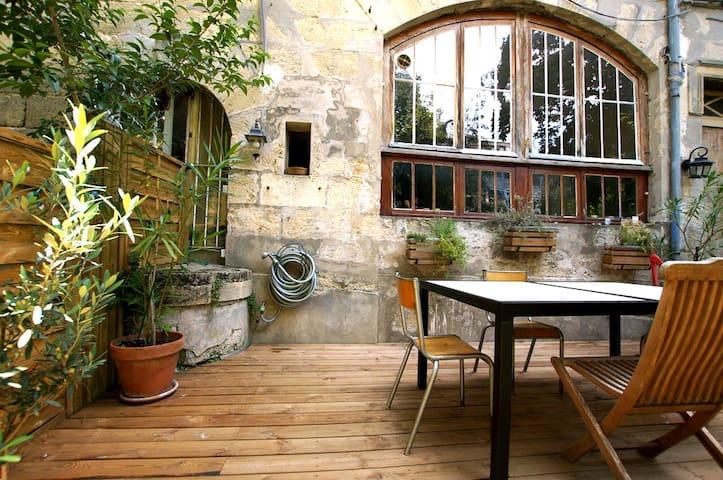Appartement centre ville, jardin & terrasse