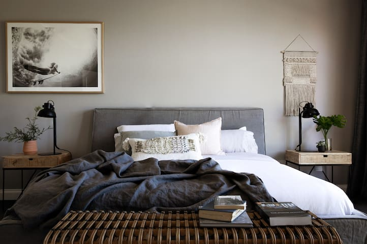 Our Master Bedroom with MySofitel King Size bed. Wake up refreshed and ready to take on all that Fingal House has to offer.