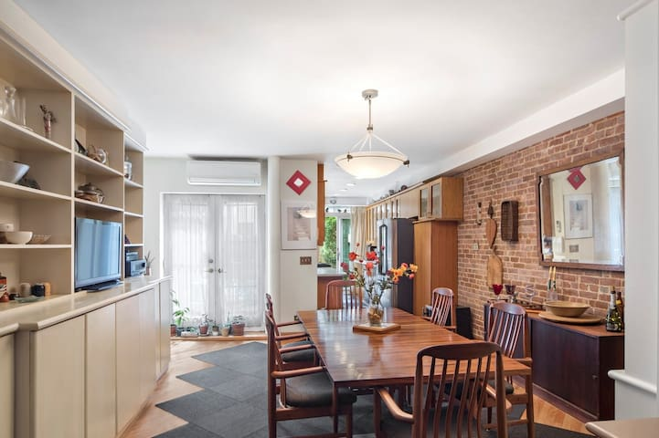 UWS brownstone with Grdn,  Guest Bdrm, 2 bthrms