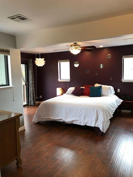 Master Bedroom Suite overlooking the creek
