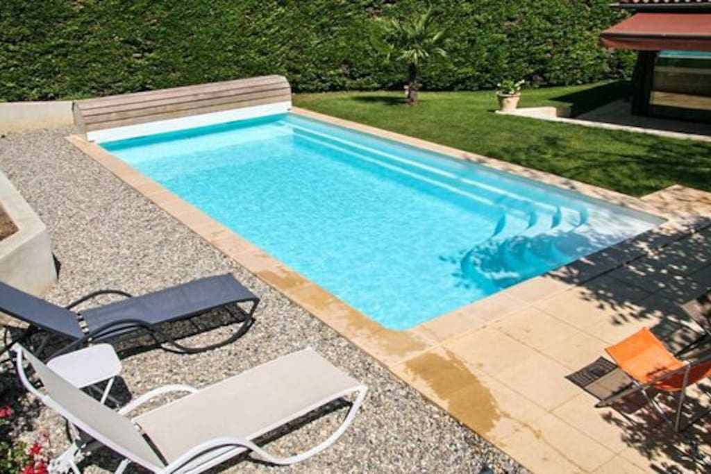 The swimming pool, 8*4 meters, brand new!