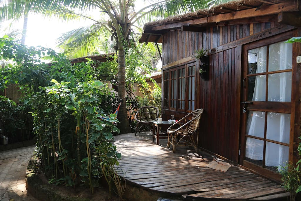 All of our huts have veranda with sea view