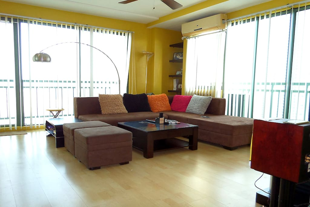 Cozy Lounge area. I am also in FB just search: Soho Central Condo Mandaluyong
