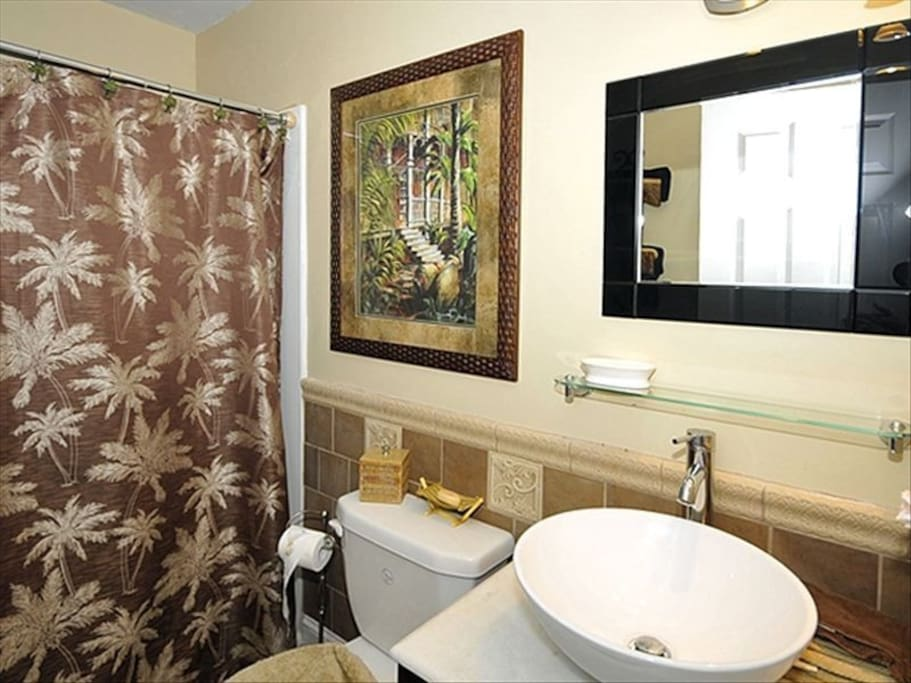 Main bathroom used by guests only