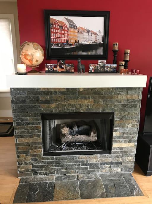 Fireplace in main floor living room