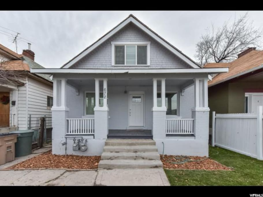 Home built in 1917.  Big old fashioned front porch.