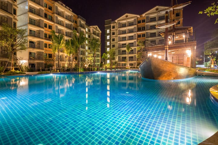 Marvellous Pool View Apartment@Nai Yang beach-250m