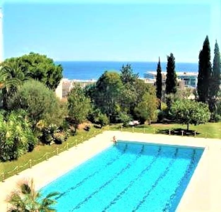 Large 25m long x 10m wide guarded pool