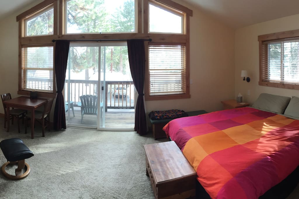 Plenty of space and quiet to provide the intended effect of a Tahoe getaway.