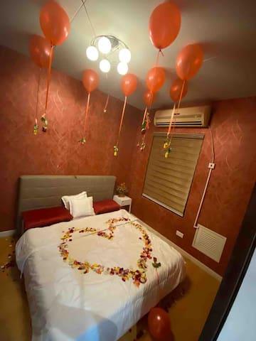 غرفة نوم مع حمام خاص