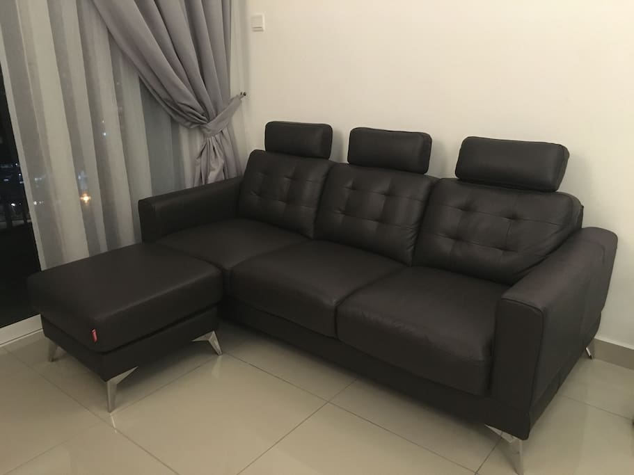 Luxurious Full Leather sofa Kindly take good care of the sofa