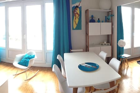 Sea view flat close to the beach and harbour - Larmor-Plage