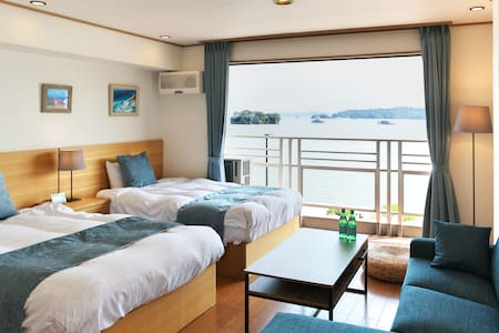 View of Matsushima Bay full of windows/ 6 beds