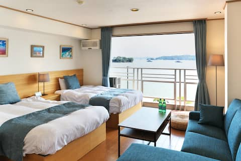 View of Matsushima Bay full of windows/ 6 beds