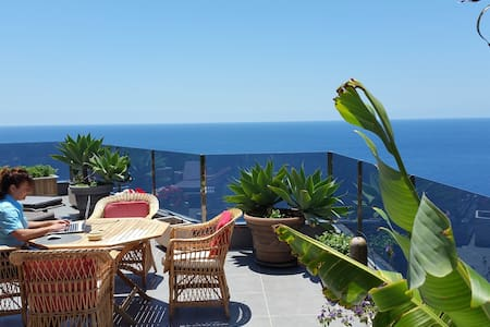 "Cliff house""Amazing Ocean view! Complete Relaxing - Ribeira Brava"