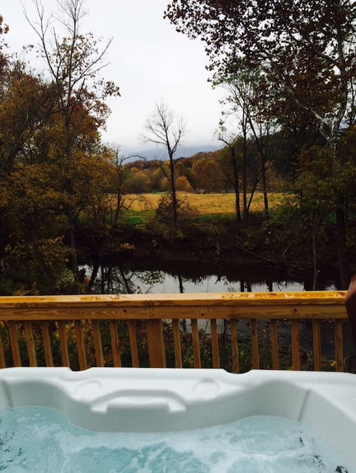 hot tub looking out at the beautiful view